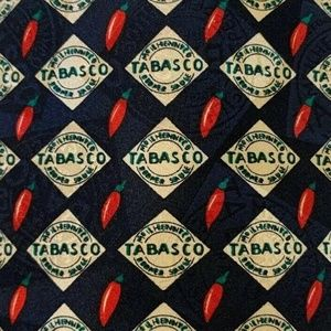 Tobasco Accessories - Tobasco Tie Silk Black Necktie Hot Sauce Novelty